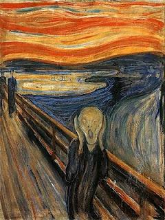 Skrik bildet laget av Edward Munch