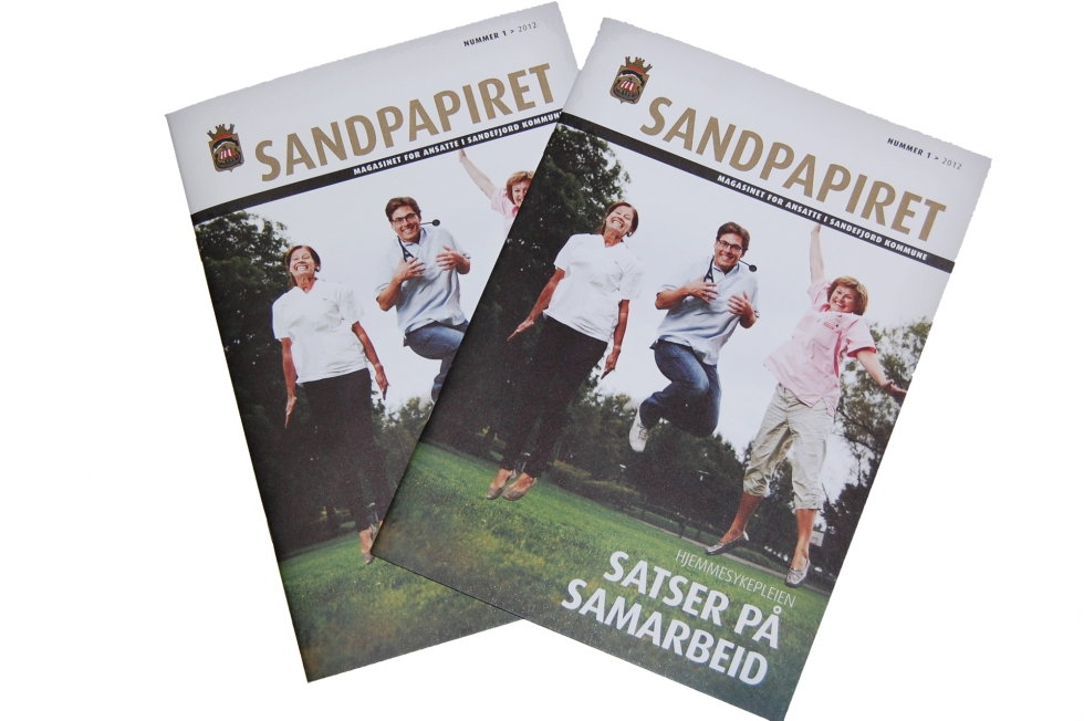 Ssandefjord kommunes eget intermagasin Sandpapiret