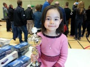 Vant 1. premie i sjakkonkurransen i Kongsvinger. Det var stas.