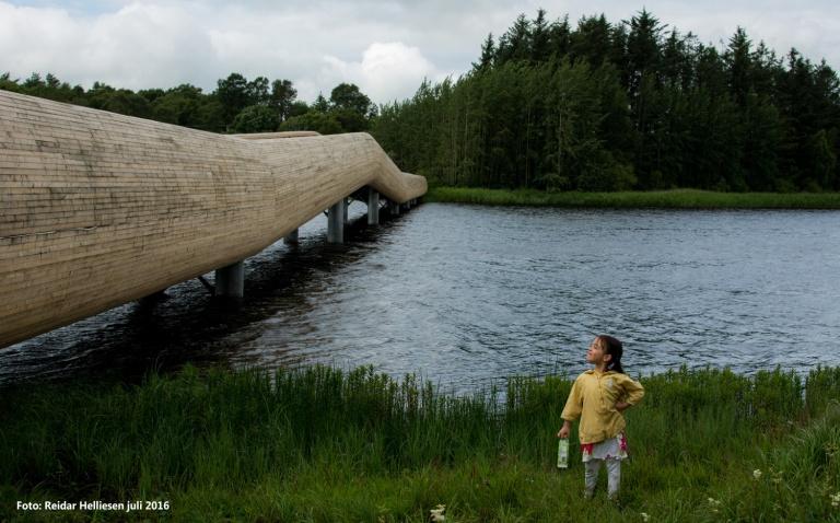 Perle-Gamay poserte mer enn villig foran den flotte turbroen på Frøylandsvannet på Jæren.