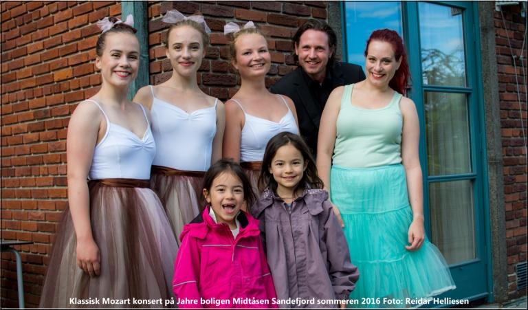 På Midtåsen arrangerte de Mozartkonsert for barn. Det var en stor suksess og noe barnene satte stor pris på.