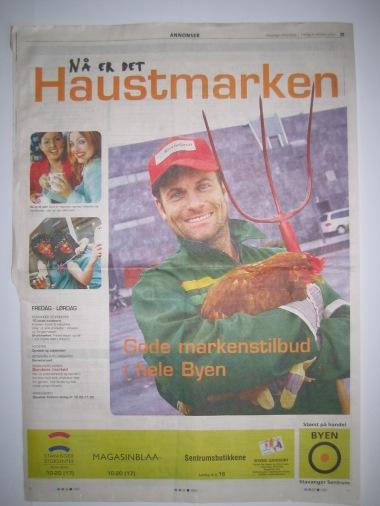 Bonde i byen :-) Hva gjør man ikke for at handelsstanden skal trekke folk til sentrum. Alltid hyggelig å få oppdrag fra Stavanger sentrum.