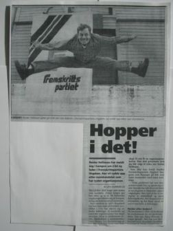Sprek og full av pågangsmot. Den gang jeg stilte som leder av formann i Fremskrittspartiets Ungdom i Norge.